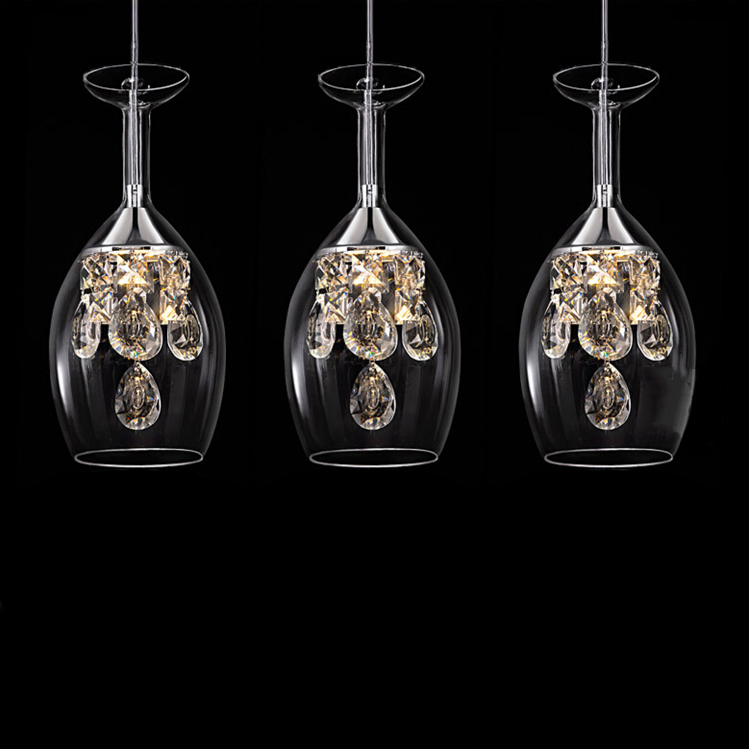 Pendant Island Lights Island Modern Crystal Led Mini Pendant Three Light Ceiling