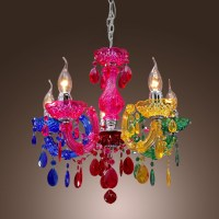 Colorful Rainbow Classic Vintage Artistic Crystal Ceiling ...