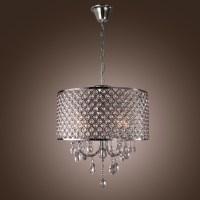 New 4 Light Chandelier Drum Shade Pendant Lamp Ceiling ...