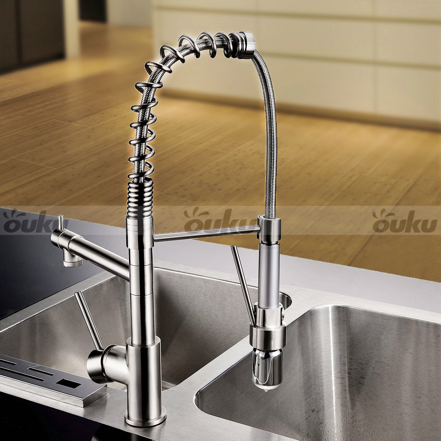 Led Faucets Sprinkle Contemporary Single Handle Led Pull Out Kitchen