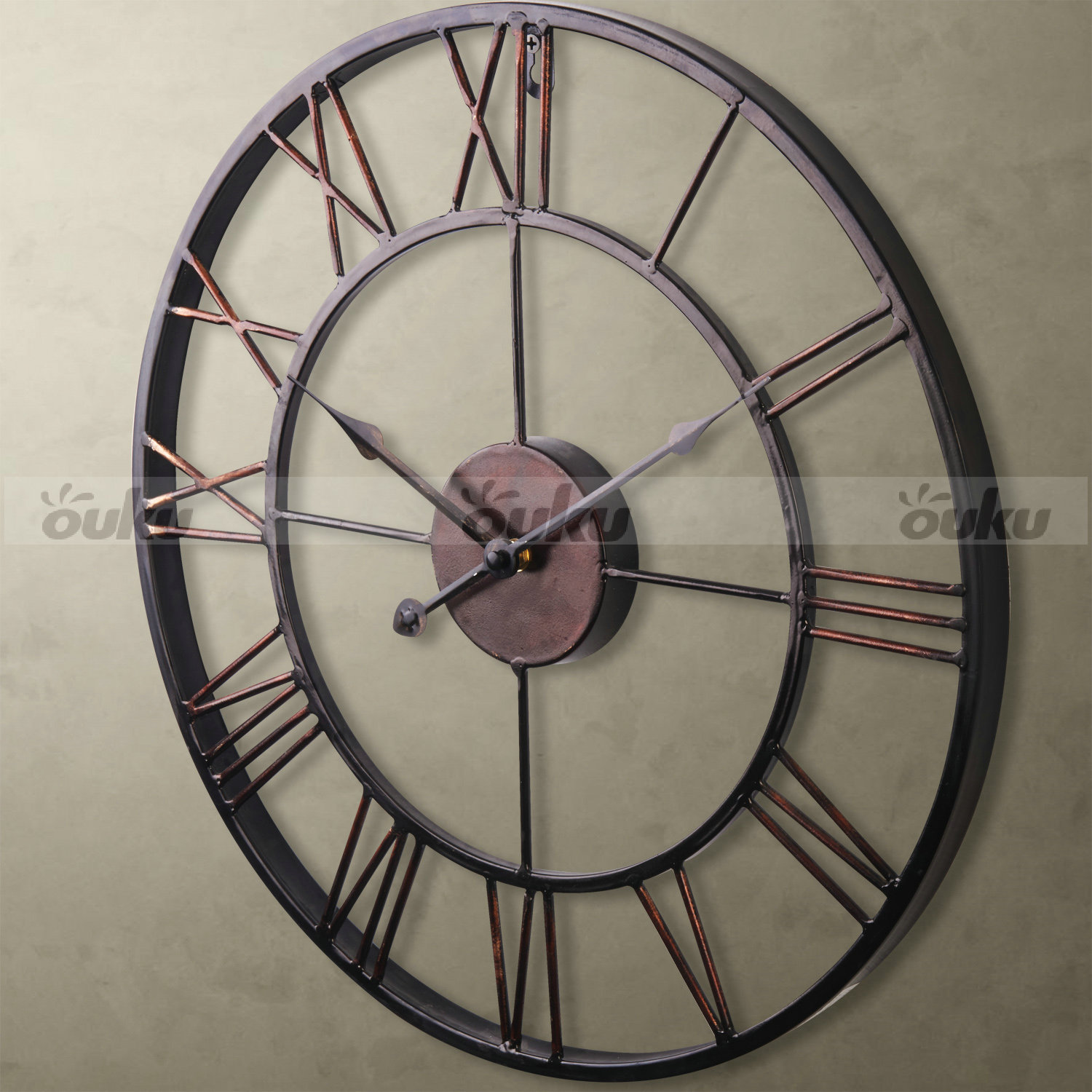 Big Clocks For Wall Hot Sale Extra Large Vintage Style Statement Metal Wall