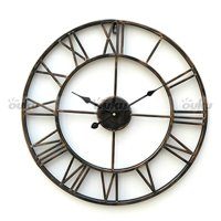 LARGE Metal Wrought Iron Hampton WALL CLOCK French ...