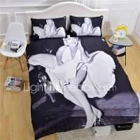 Marilyn Monroe Duvet Cover Set White And Black Bedding Set ...