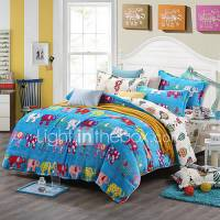 Elephant Print Bedlinen Fleece winter bedding set queen ...