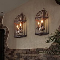 MAISHANG Mini Style Wall Sconces , Rustic/Lodge E26/E27 ...