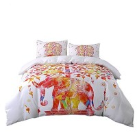 BeddingOutlet Elephant Bedding Set Tree White and Red ...