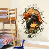 3d Dinosaur Wall Stickers Decals for Kids Rooms Art for ...