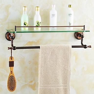 Bathroom Shelves Orb And Rose Gold Plated Finishing Wall