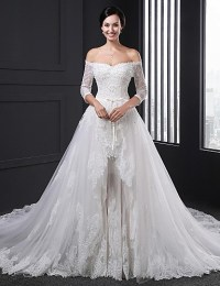 Ball Gown Wedding Dress Two-In-One Wedding Dresses Chapel ...