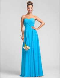 Bridesmaid Dress Floor Length Chiffon Dress Sheath Column ...