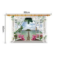 3D Wall Stickers Wall Decals, False Window Beautiful ...