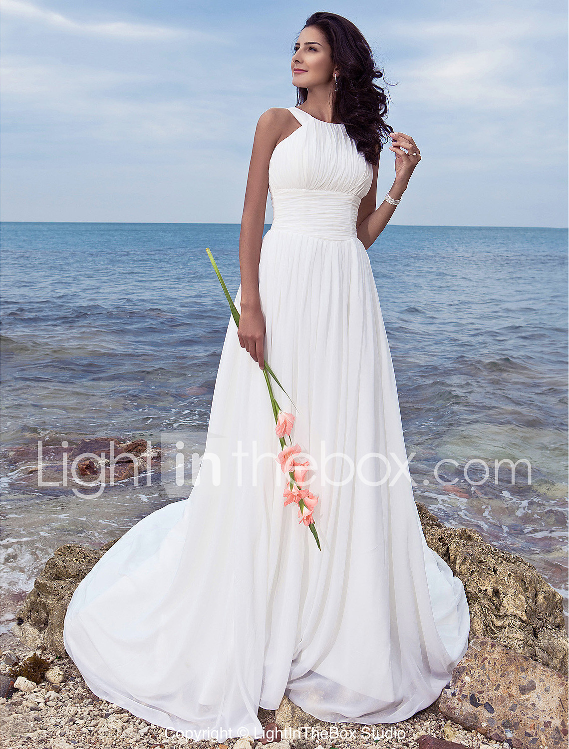 wedding dresses clearance wedding dresses LAN TING BRIDE A line Wedding Dress Classic Timeless Chic Modern Simply