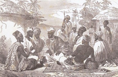 Egba people meeting of counselors at Abeokuta