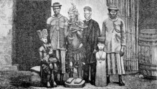 Pagan gods given up to Samuel Ajayi Crowther in Benin, 1878.