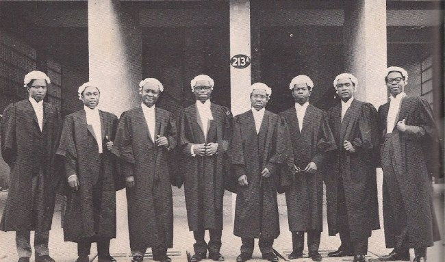Lawyers, new from Laws School in the 1960s