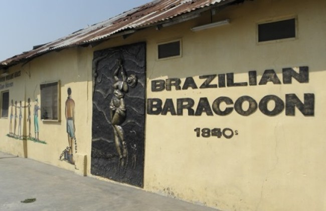 Slaves cells called the Baracoon in Seriki's compound