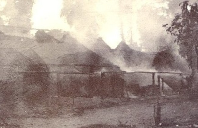 Arochukwu burning in this 1901 photo