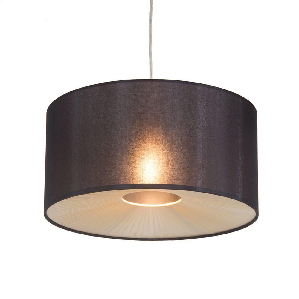 Ceiling Light Shades Small Ribbon Easy To Fit Ceiling Shade Drum Black From Litecraft