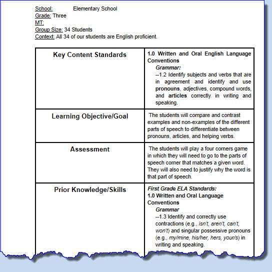 Market Research Templates 10 Word 2 Excel Lesson Planning As Collaboration In Digital Environments