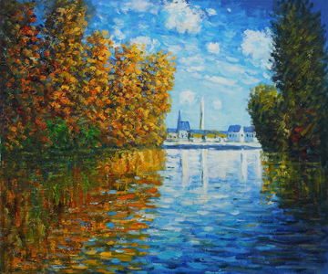 Autumn at Argenteuil 1873 Oil Painting by Claude Monet: Art Monday