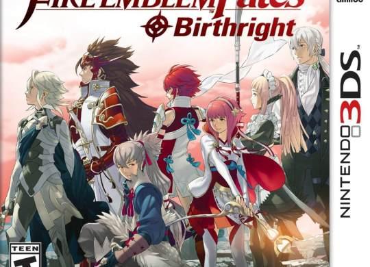 Capa do jogo de 3DS Fire Emblem Fates Birthright.