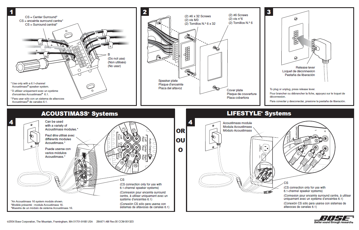 bose acoustimass 10 series iv wiring diagram