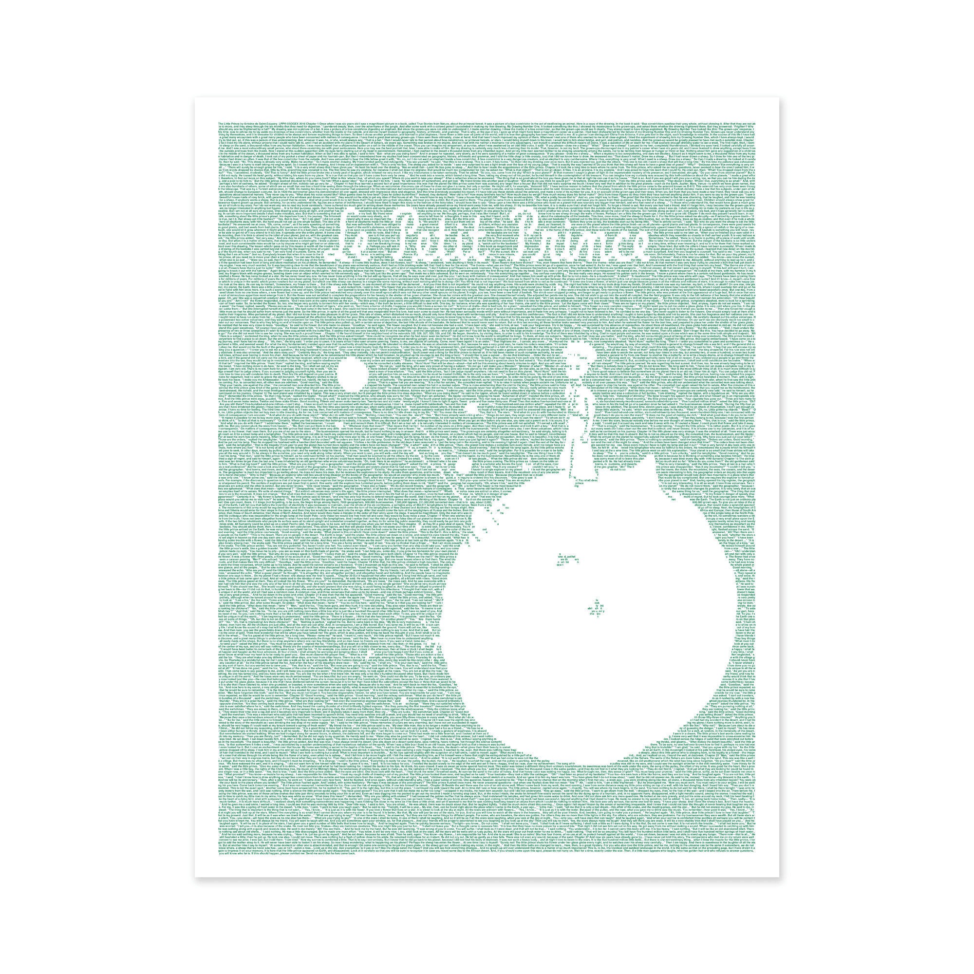 Poster Judging Form Created From The Text Of The Little Prince
