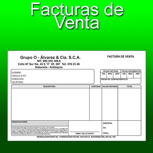 Facturas Medellin Litografia Medellin - formato de factura de venta