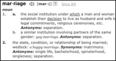 What's In A Word?: Marriage-Equality Activists Aim At The Dictionary | LitReactor