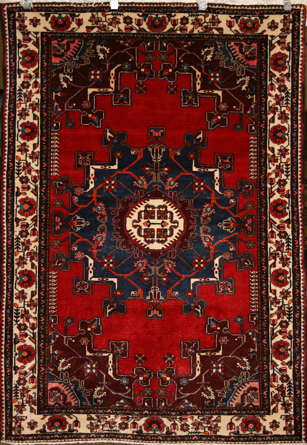 Asian Carpet Persian Hand Knotted Tafresh Rug In Wool Cotton Foundation Ref