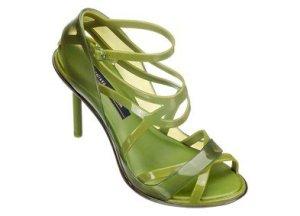 green melissa+jean paul gaultier