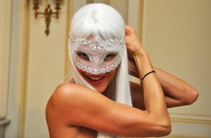 getting ready for the vogue paris masquerade ball