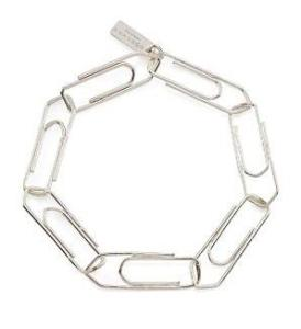 mmm paper clip bracelet