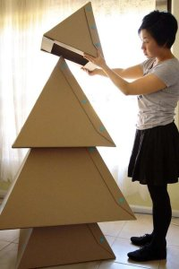 alternative christmas tree cardboard