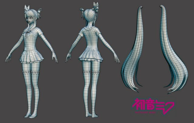 hatsune_miku__low_poly_by_hazardousarts-d5227fn