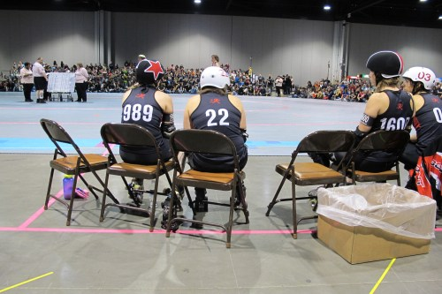 Spying on Texas at 2012 WFTDA Championships.