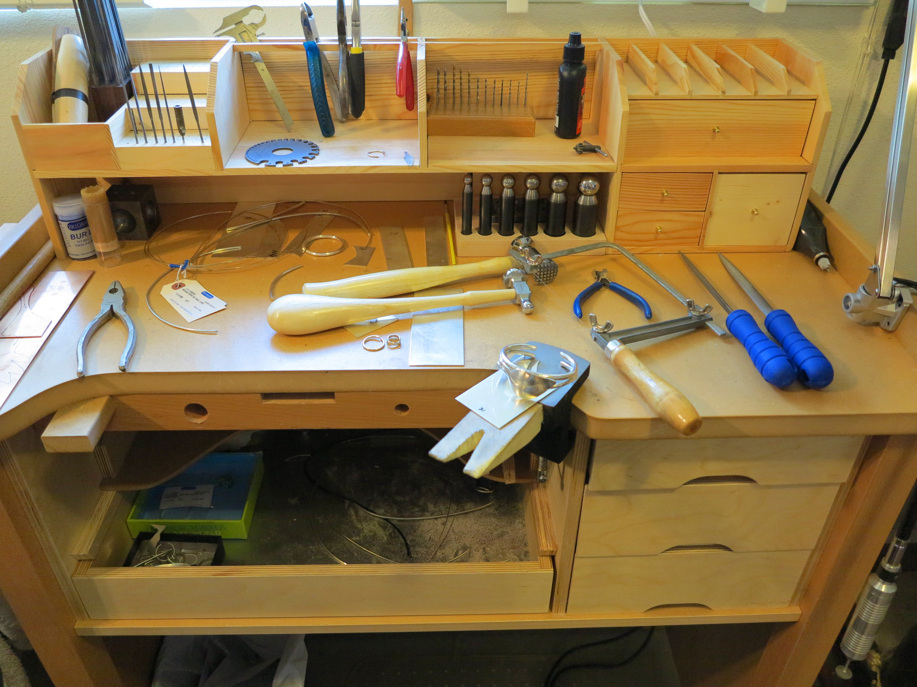 Work Table Design 13 Best Jewellers Bench Images On Pinterest Storage