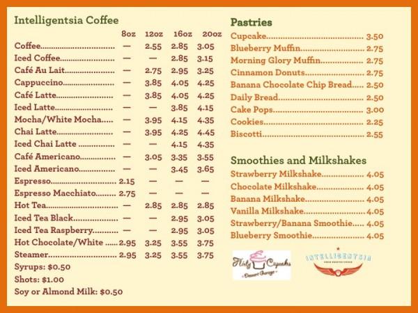 Cafe and Cafe Menu - Evanston - Little Beans Café  Playspace
