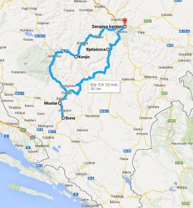 BiH itinerary