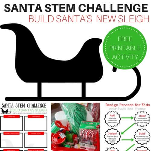 Santa STEM Activity Challenge Build a Sleigh with Free Printable Sheets