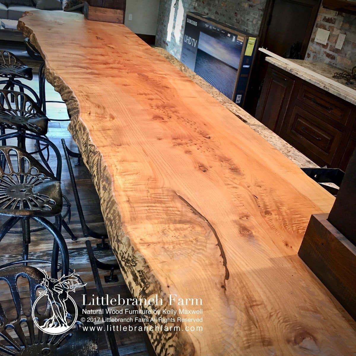 How To Waterproof Wood Countertop Natural Wood Countertops Live Edge Wood Slabs Littlebranch Farm
