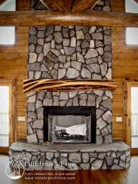 Rustic Fireplace Mantels | Fireplace mantel | Littlebranch ...