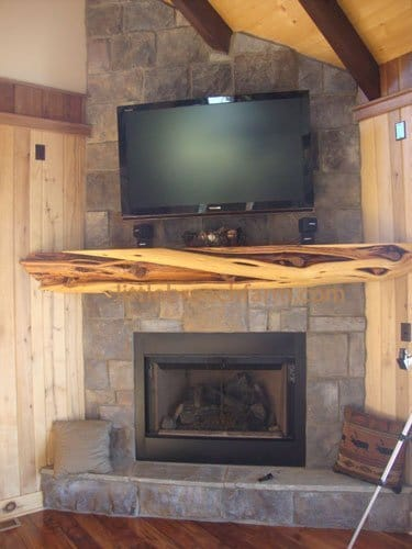 Rustic Fireplace Mantels Littlebranch Farm