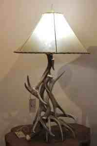 Mule Deer Antler Table Lamp with Shade | Littlebranch Farm