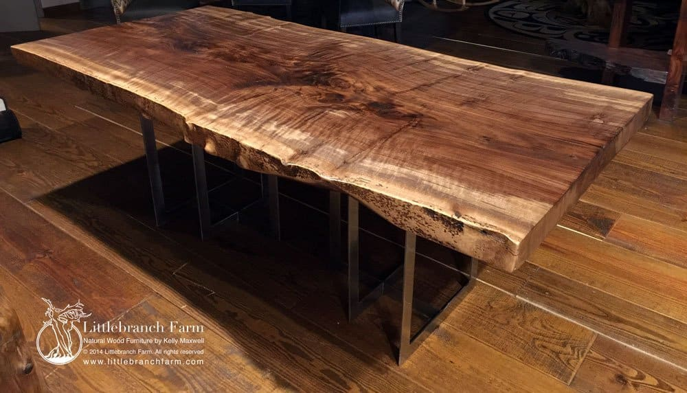 Rustic Table Live Edge Table Wood Table Littlebranch