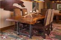 Rustic dining table - live edge wood slabs | Littlebranch Farm