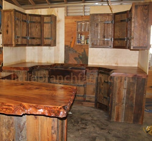 Barn Wood Kitchen Cabinet Doors Rustic Kitchen Cabinets