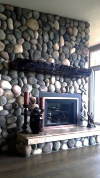 Rustic Fireplace Mantel - live edge wood | Littlebranch Farm
