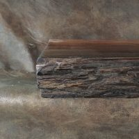 Wood slab rustic fireplace mantel 417 | Littlebranch Farm