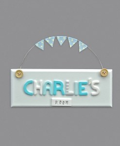 boys bedroom door sign white